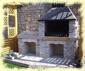 барбекю садовый камин фото